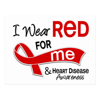 I Wear Red For Me Heart Disease Postcard