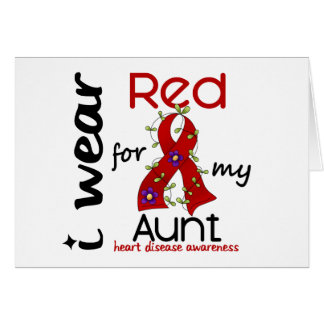 I Wear Red For My Aunt 43 Heart Disease Greeting Card