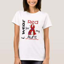 I Wear Red For My Aunt 43 Heart Disease T-Shirt