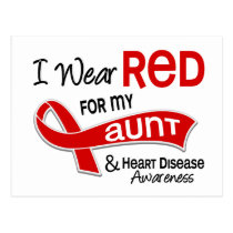I Wear Red For My Aunt Heart Disease Postcard
