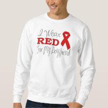I Wear Red For My Boyfriend (Red Ribbon) Sweatshirt