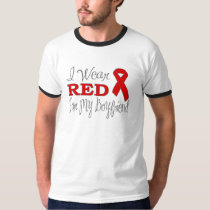 I Wear Red For My Boyfriend (Red Ribbon) T-Shirt