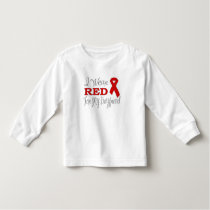 I Wear Red For My Boyfriend (Red Ribbon) Toddler T-shirt