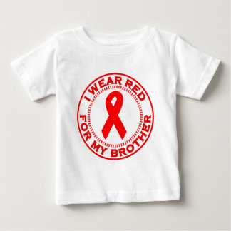 I Wear Red For My Brother Baby T-Shirt