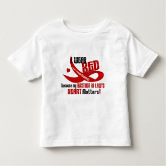 I Wear Red For My Brother-In-Law's Heart 33 Toddler T-shirt