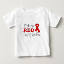 I Wear Red For My Brother (Red Ribbon) Baby T-Shirt