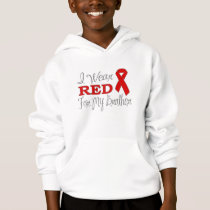 I Wear Red For My Brother (Red Ribbon) Hoodie