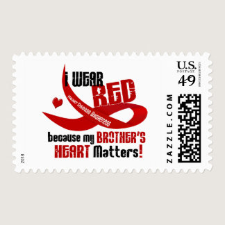 I Wear Red For My Brother's Heart 33 Postage