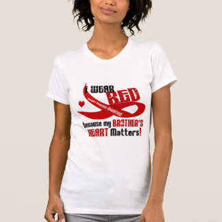 I Wear Red For My Brother's Heart 33 T-Shirt