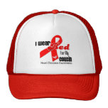 I Wear Red For My Cousin Heart Disease Mesh Hat