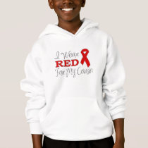 I Wear Red For My Cousin (Red Ribbon) Hoodie