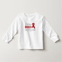 I Wear Red For My Cousin (Red Ribbon) Toddler T-shirt