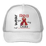 I Wear Red For My Dad 43 Heart Disease Mesh Hat