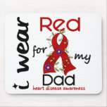 I Wear Red For My Dad 43 Heart Disease Mousepad