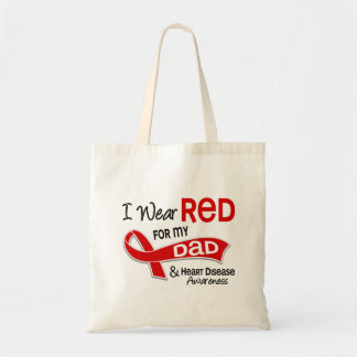 I Wear Red For My Dad Heart Disease Bag