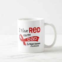 I Wear Red For My Dad Heart Disease Coffee Mug