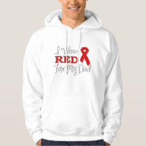 I Wear Red For My Dad (Red Ribbon) Hoodie