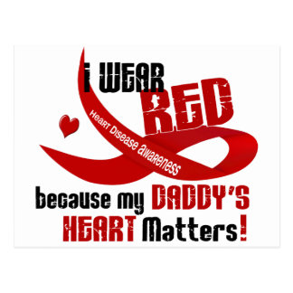 I Wear Red For My Daddy's Heart 33 Postcards