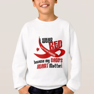 I Wear Red For My Daddy's Heart 33 Sweatshirt