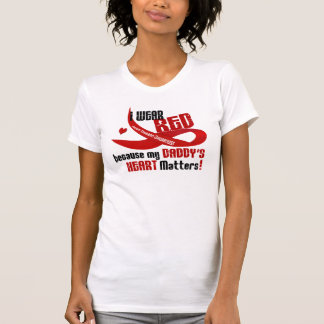 I Wear Red For My Daddy's Heart 33 T-Shirt