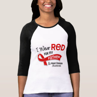 I Wear Red For My Father Heart Disease Tshirt