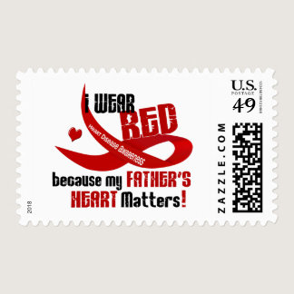 I Wear Red For My Father's Heart 33 Postage