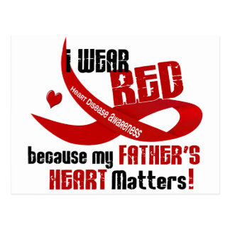 I Wear Red For My Father's Heart 33 Post Card