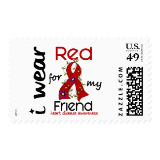I Wear Red For My Friend 43 Heart Disease Postage Stamps