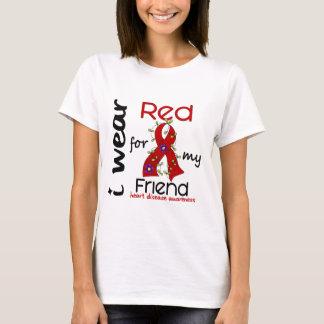 I Wear Red For My Friend 43 Heart Disease T-Shirt