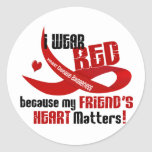 I Wear Red For My Friend's Heart 33 Stickers