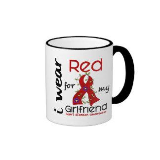 I Wear Red For My Girlfriend 43 Heart Disease Coffee Mugs