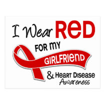 I Wear Red For My Girlfriend Heart Disease Postcard