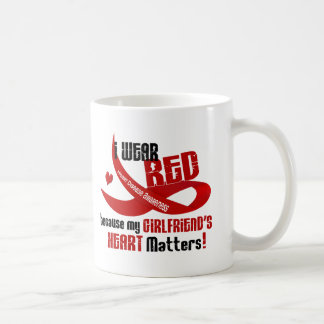 I Wear Red For My Girlfriend's Heart 33 Mugs