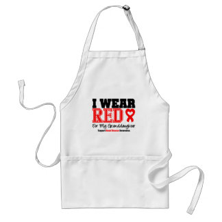 I Wear Red For My Granddaughter Adult Apron