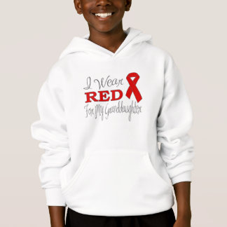 I Wear Red For My Granddaughter (Red Ribbon) Hoodie