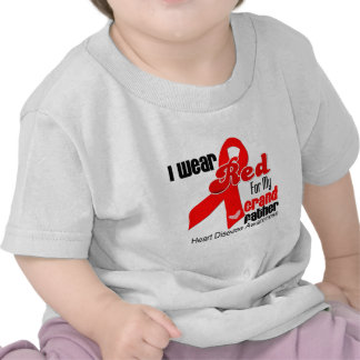 I Wear Red For My Grandfather Heart Disease Tshirt
