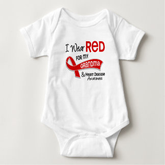I Wear Red For My Grandma Heart Disease T Shirts