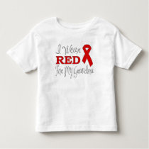 I Wear Red For My Grandma (Red Ribbon) Toddler T-shirt