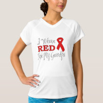 I Wear Red For My Grandpa (Red Ribbon) T-Shirt