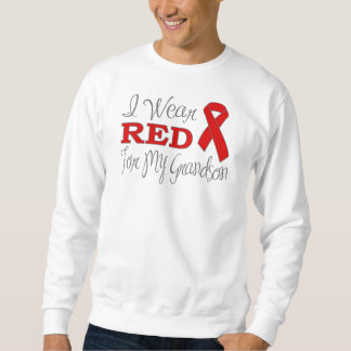 I Wear Red For My Grandson (Red Ribbon) Sweatshirt