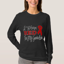 I Wear Red For My Grandson (Red Ribbon) T-Shirt