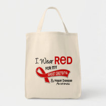 I Wear Red For My Great Grandma Heart Disease Tote Bag