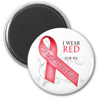 I Wear Red for my Great Grandpa Magnet