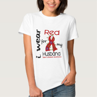 I Wear Red For My Husband 43 Heart Disease T-shirt