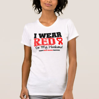 I Wear Red For My Husband Tee Shirt