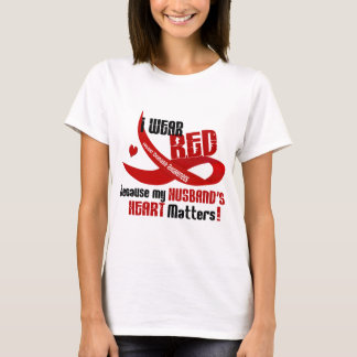 I Wear Red For My Husband's Heart 33 T-Shirt