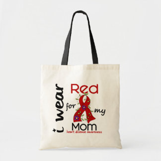 I Wear Red For My Mom 43 Heart Disease Canvas Bag