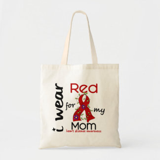 I Wear Red For My Mom 43 Heart Disease Budget Tote Bag