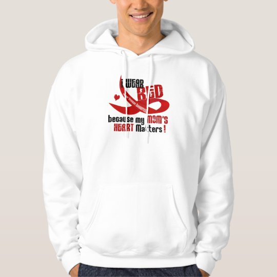 I Wear Red For My Mom 's Heart 33 Hoodie