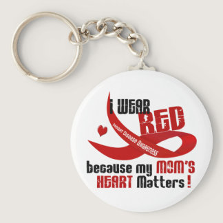 I Wear Red For My Mom 's Heart 33 Keychain